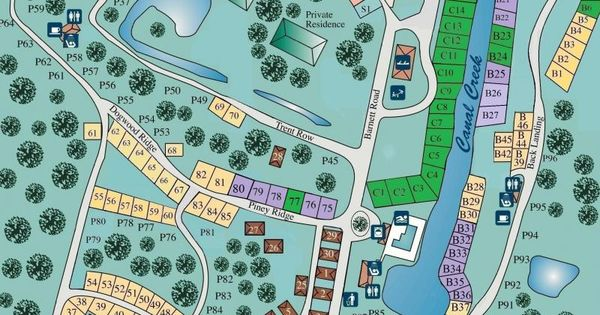 Campground Layout Camping Ideas Pinterest Maps And
