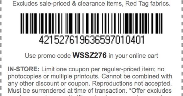 Joann fabrics discount coupons