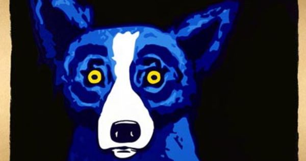 Blue Dog By George Rodrique Louisiana With Images Blue Color Blue Dog Blue