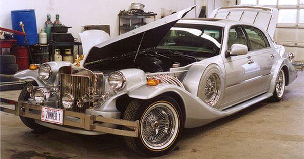 Zimmer Silver 4 Door Sedan Sports Cars Luxury Lincoln Town Car Sedan