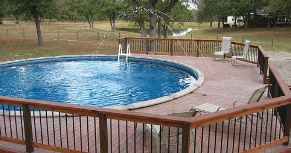 Above ground pool and deck dream home pinterest for Above ground pool decks with hot tub