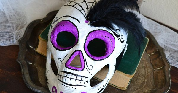 Craft Paper Mache Skeleton Masks