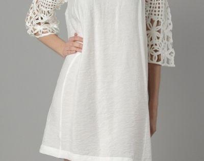 Woven Sleeve Tunic dress.