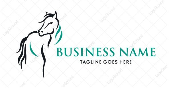 Logo for sale calligraphy horse unique and stylish