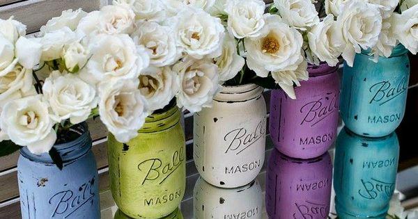 25 idées DIY magnifiques - pots de confiture décoratifs  Roses ...