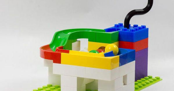 Marble Pump 3d Printable And Lego 3dprinterdesigns Lego 3d Printer Designs Lego 3d