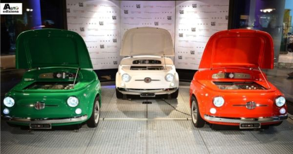 Unieke Fiat 500 Koelkast Door Smeg Auto Edizione