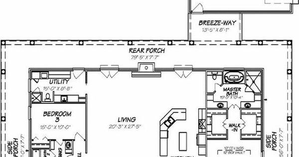 This is perfect house for me all one story and a wrap for House plans with porch all the way around