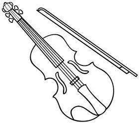 Instrumentos Musicais Desenho De Violino Desenhos De