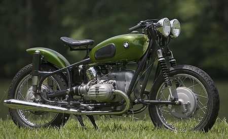 This Green 1967 Bmw 50 2 Bobber Motorcycle Is Amazing The Classic