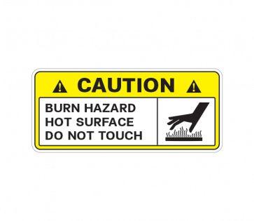 Caution Burn Hazard Hot Surface Do Not Touch 14322 Surface Safety Sign Hazard