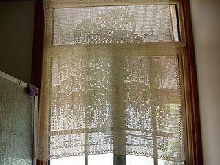 Free Filet Crochet Curtain Patterns Free Filet Crochet Curtain