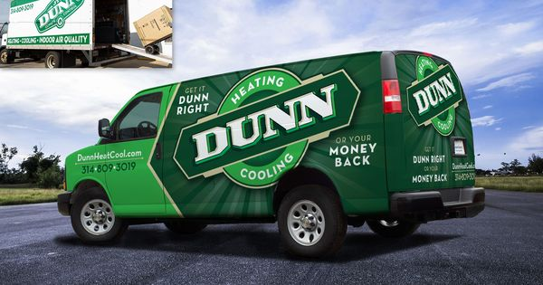 Before And After Truck Wrap Design For Dunn Heating Cooling