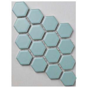 Merola Tile Metro Hex Matte Light Blue Porcelain Mosaic 6 In X Sample S1fxlm1hml The Home Depot Samples