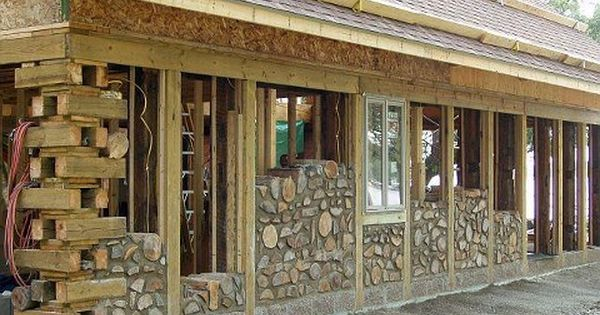Cordwood builders most often use a post and beam framework for Cheap home building techniques