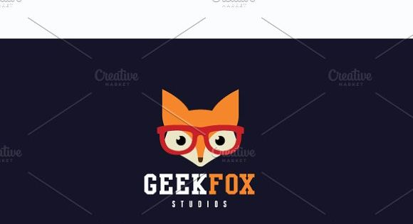 Geek Fox logo for studio and tech
