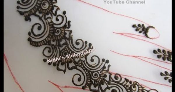 Quick Mehndi Patterns : Youtube quick arabic henna mehendi mehandi mehndi