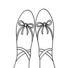 Dibujo Para Colorear Zapatillas De Ballet Dibujos Para Colorear