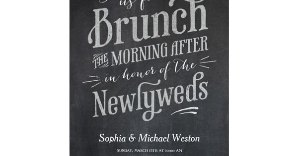 Day After Wedding Brunch Invitation: Our Favorite Day-After Wedding Brunch Invitations