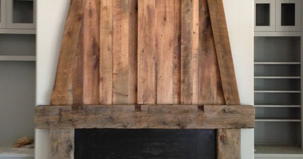 Reclaimed Wood Fireplace By Michael Condon In Greenville