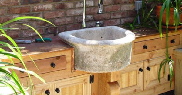 Concrete Sink Perfect For The Outdoors Outdoor Sinks Garden Sink Outdoor Kitchen Sink