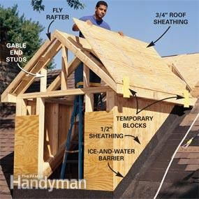 How To Frame A Gabled Dormer Attic Remodel Attic Renovation Dormers