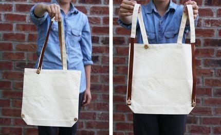 Tutorial Convertible Tote Bag Backpack Convertible Tote Bag