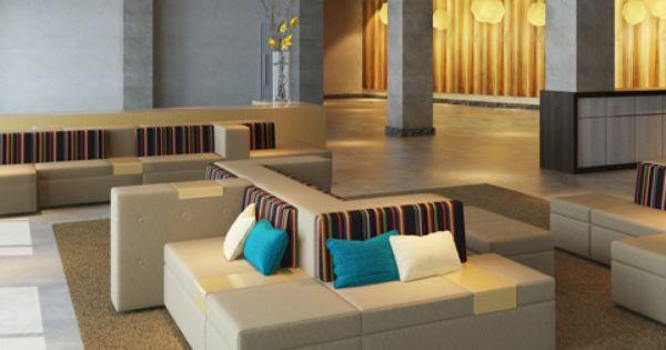 Hotel Foyer Furniture : Lounge furnishings tangent modular seating loewenstein
