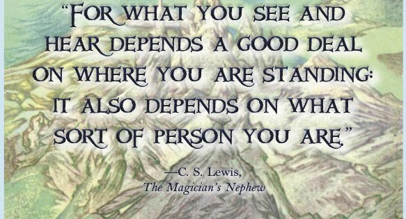Good thoughts from C.S. Lewis. :)