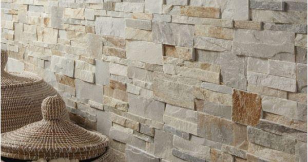 Plaquette de parement Elégance en pierre naturelle, beige, Pièces ...