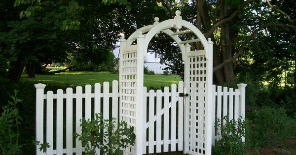 Vynl Round Top Arbor With Gate Arbors Gates And