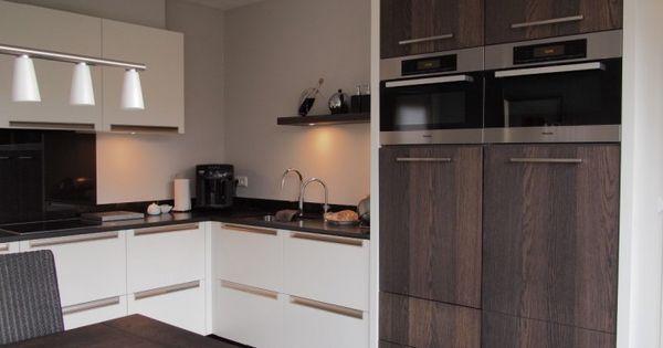 Moderne keuken combinatie gespoten fronten met rustiek eiken heel mooi keuken - Heel mooi ingerichte keuken ...