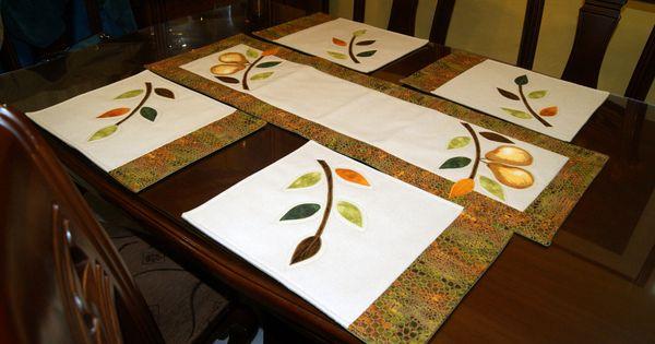 Placemats individuales para comedor lencearte pinterest - Individuales para mesa ...