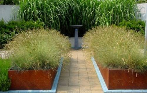 Large Containers Or Raised Beds Made From Corten Steel And