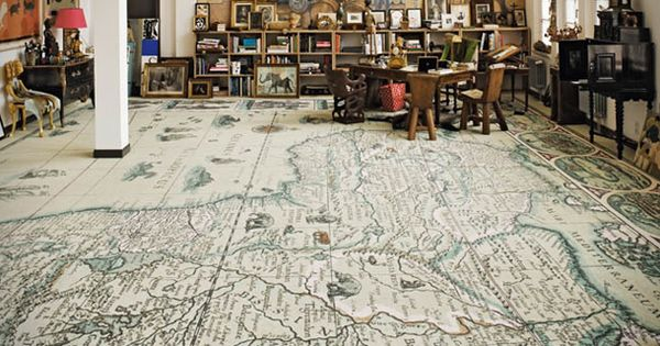 Maybe the most incredible rug, ever: world map carpets by Area Pavimenti.