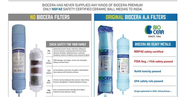 Different Between Biocera Original And Duplicate Products Healthy Water Water Solutions Alkaline Water