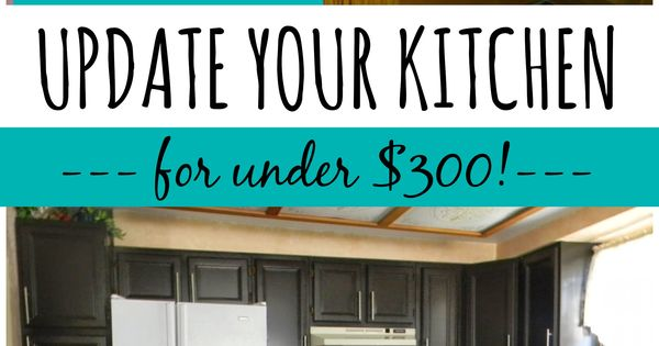 Kitchen update on a budget! Countertop paint that looks like granite and one-day cabinet makeover. DIY www.gianigranite.com www.nuvocabinetpa...