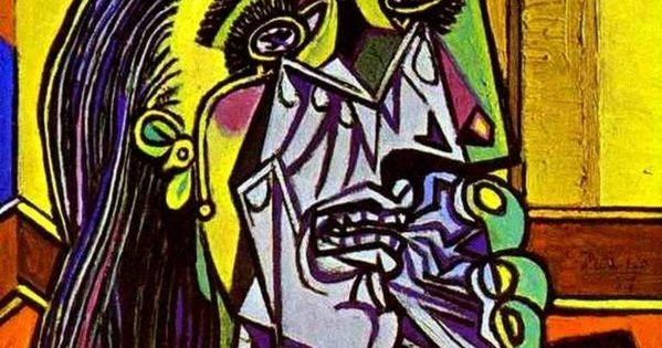 cubism the weeping woman A detail from pablo picasso's painting weeping woman with handkerchief, 1937 on.