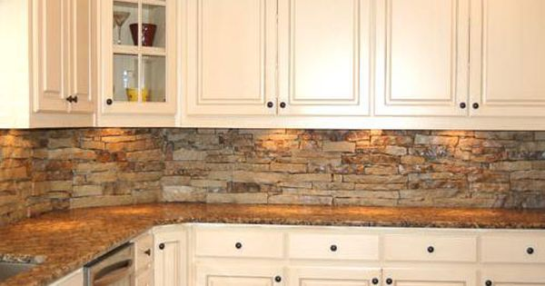 stacked stone kitchen backsplash i this back splash and it would match the fireplace 5688