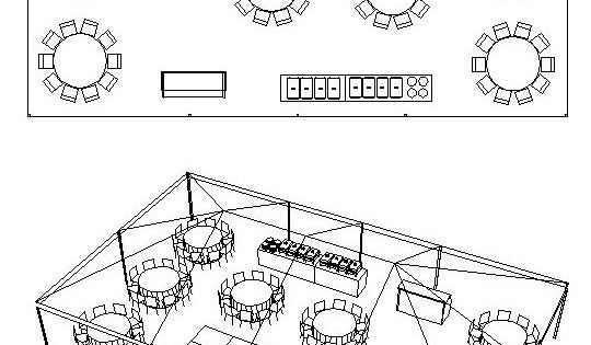 30 X 50 Tent For 90 People With Bar Buffet Dj Amp Dance Floor Floor Plan For Tent For