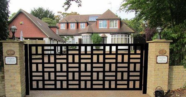 Contemporary Driveway Gate On Sale Metal Art Garden