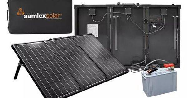 Samlex 135 Watt Portable Charging Kit Msk 135 Adventure Rv Solar Portable Solar Panels Rv Solar Portable Solar Panels Portable Solar Power Solar Charging