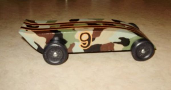 Paint Pinewood Derby Car Camouflage