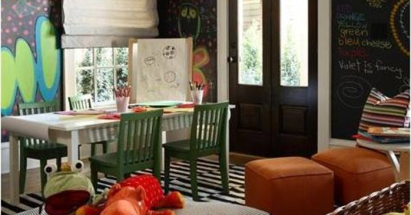 Floor Pillows Playroom : playroom- chalkboard walls, floor pillows Playroom Pinterest The floor, Chalkboard walls ...