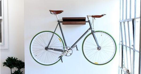 10 Ways To Hang Your Bike On The Wall Like A Work Of Art Indoor Bike Rack Indoor Bike Storage Bike Storage Shelf