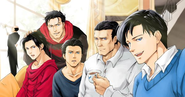 Bruce+and+Jason++family | left to right, Tim, Jason, Damian, Bruce, and Dick, I