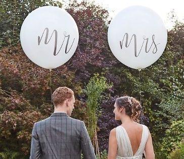 Mr /& Mrs Brautpaar XXL Heliumballons Luftballons Helium Ballons Braut Bräutigam