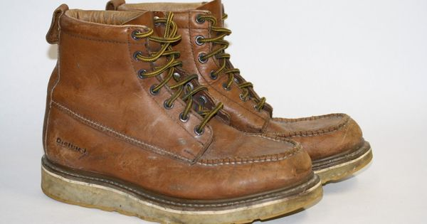 Work Boots Light Brown Size 10D Leather