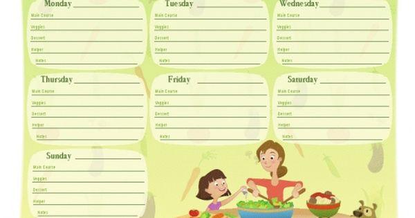 Plantilla menu semanal familiar plantillas organizacion for Dieta familiar y planificacion de menus diarios y semanales