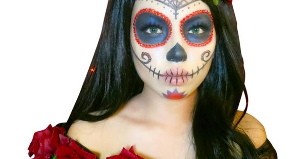 Diy maquillage halloween f te des morts mexicaine id es conseils et tuto halloween - Tuto maquillage halloween ...